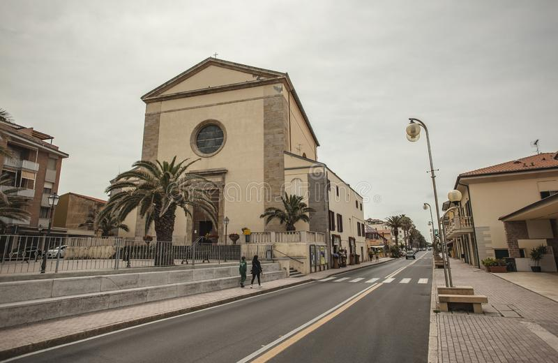 San Vincenzo in Italy #4. View of the historic center of the city of San Vincenzo in Italy #4 royalty free stock image
