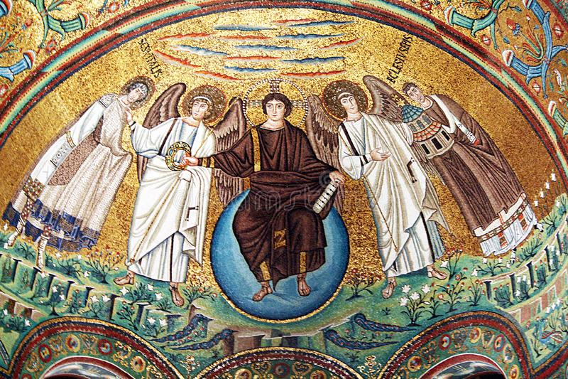 San vitale mozaika obrazy royalty free