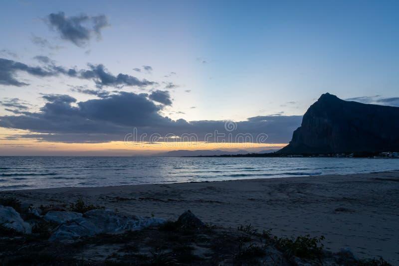 San Vito Lo Capo sunrise. A sunrise in San Vito Lo Capo Italy Sicily royalty free stock images