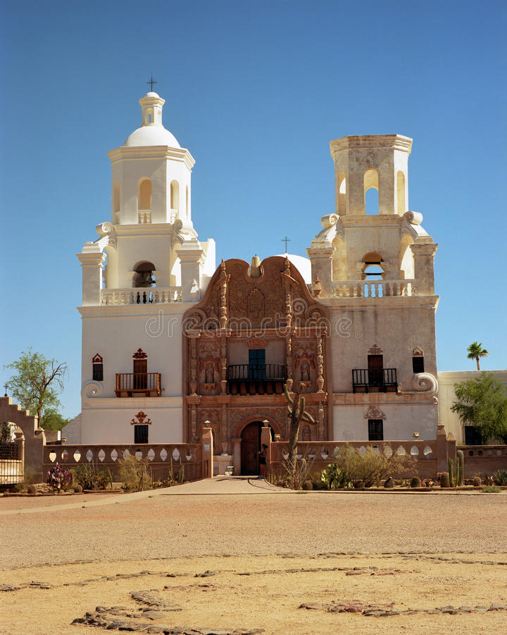 San Xavier Del Bac lizenzfreie stockfotos