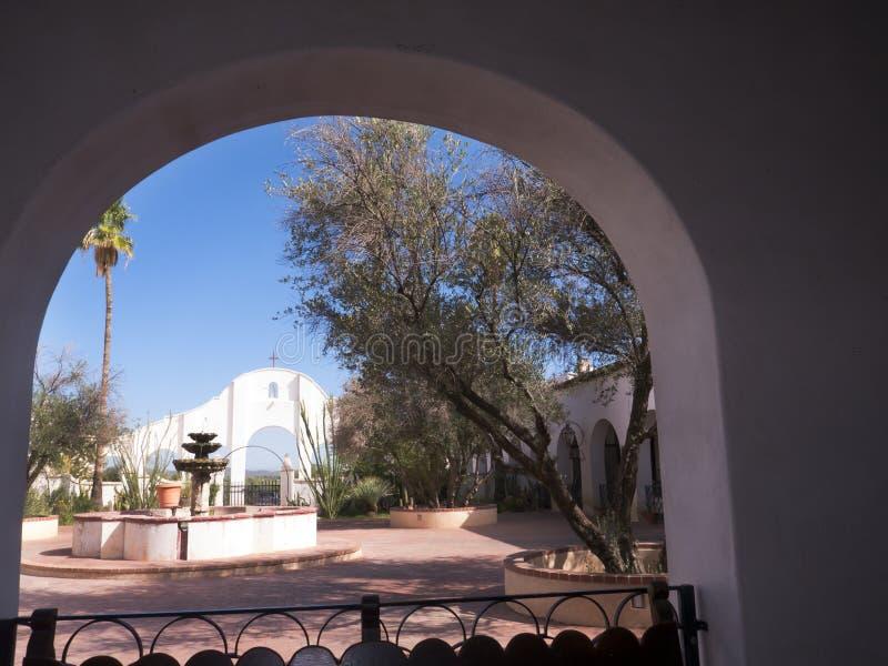 San Xavier del Bac de Spaanse Katholieke Opdracht Tucson Arizona stock fotografie