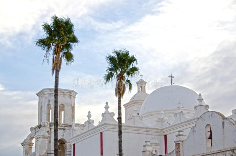 San Xavier del Bac Mission stock foto's