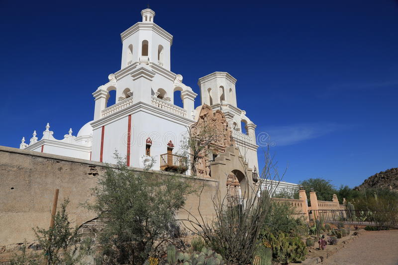 San Xavier del Bac Mission stock image