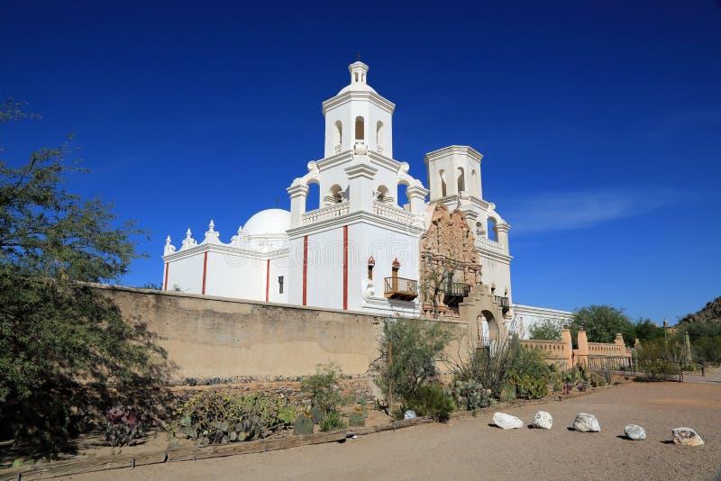 San Xavier del Bac Mission fotografia stock libera da diritti