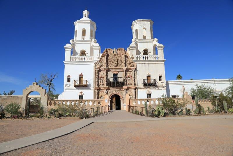 San Xavier del Bac Mission immagine stock