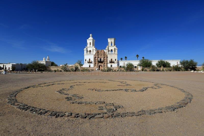 San Xavier del Bac Mission immagine stock libera da diritti