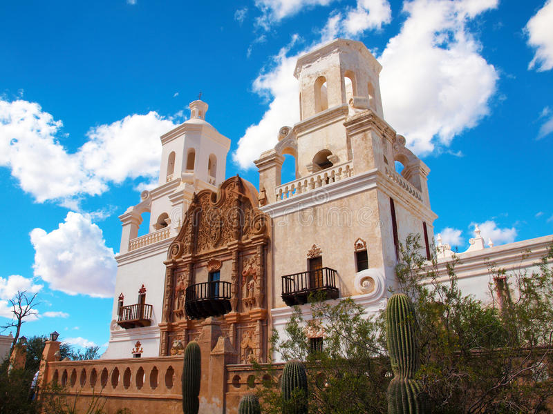 San Xavier del Bac Mission stock afbeeldingen