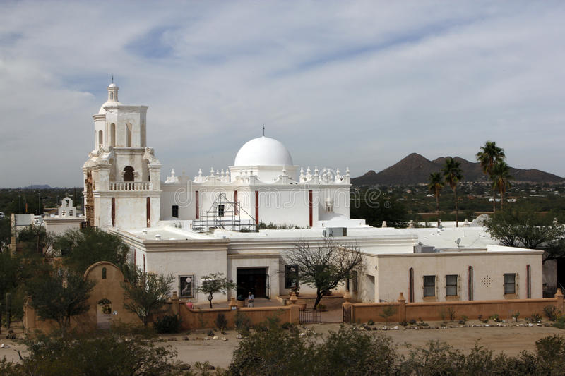 San Xavier del Bac Mission stock afbeelding