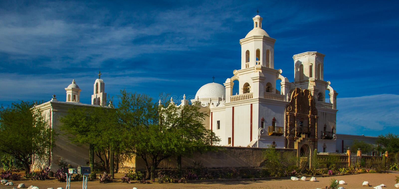 San Xavier del Bac Mission royalty-vrije stock afbeeldingen