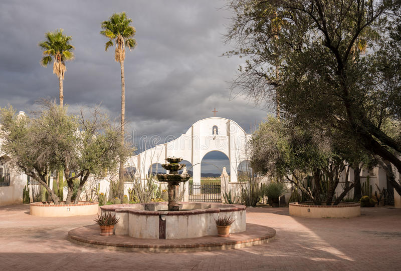 San Xavier del Bac Mission buiten Tucson Arizona stock afbeelding
