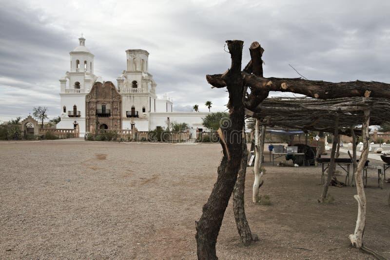 San Xavier del Bac Mission dichtbij Tucson, Arizona royalty-vrije stock fotografie