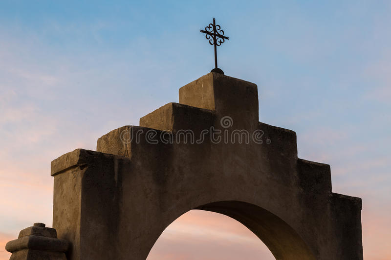 San Xavier Del Bac in Tucson Arizona stock foto