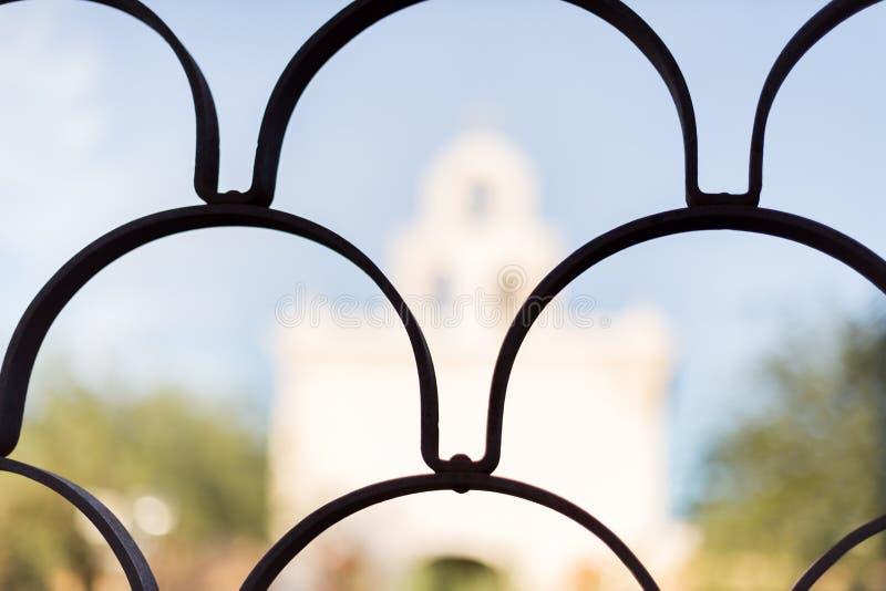 San Xavier Del Bac in Tucson Arizona stock afbeeldingen