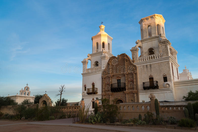 San Xavier Del Bac in Tucson Arizona stock fotografie