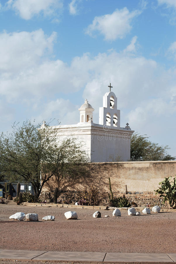 San Xavier Mission royalty-vrije stock afbeelding