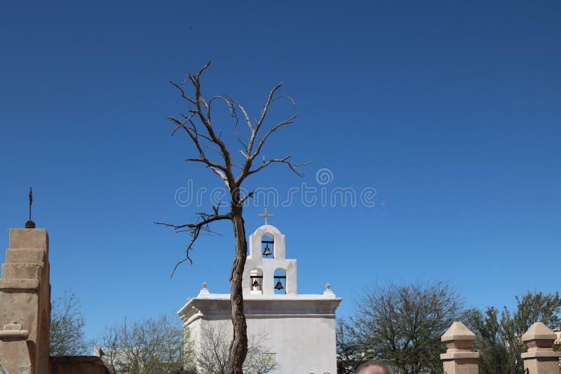 San Xavier Mission royalty-vrije stock foto's