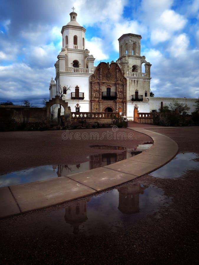San Xavier Mission Christian Achurch fotografia stock