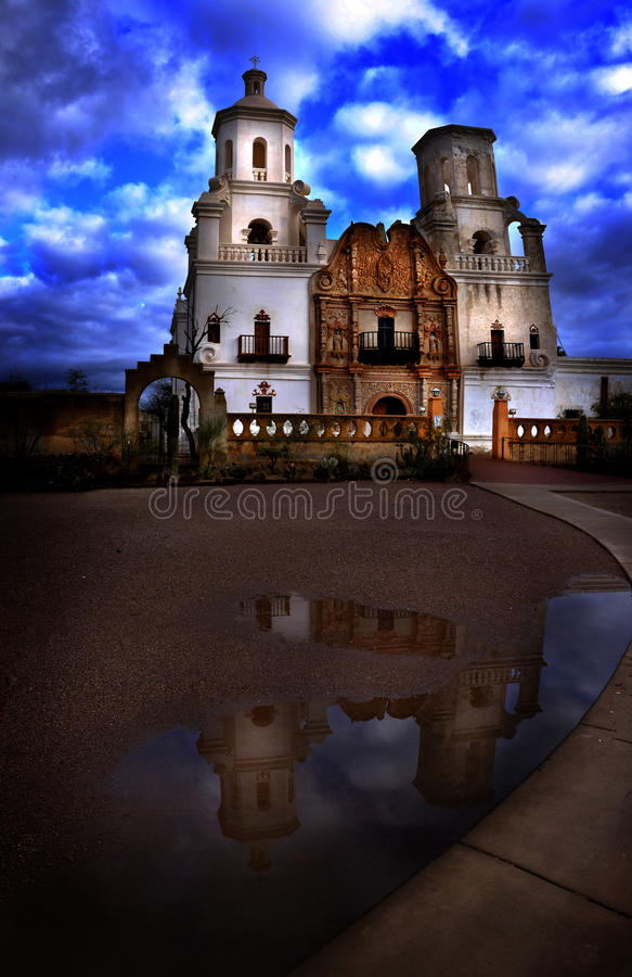 San Xavier Mission Christian Achurch fotografie stock libere da diritti