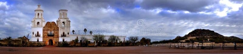 San Xavier Mission nello Spagnolo Religioius di Tucson Arizona immagini stock libere da diritti