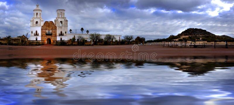 San Xavier Mission nello Spagnolo Religioius di Tucson Arizona fotografia stock