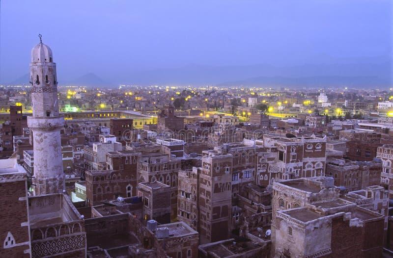 Sana, capital city of Yemen stock photography
