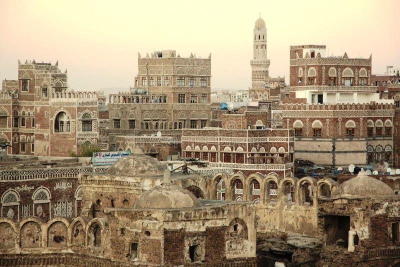 Sana'a miasto Jemen, Azja - zdjęcia stock