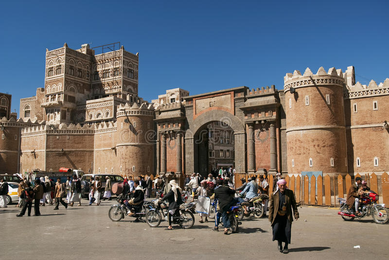 Sanaa miasto w Yemen fotografia stock