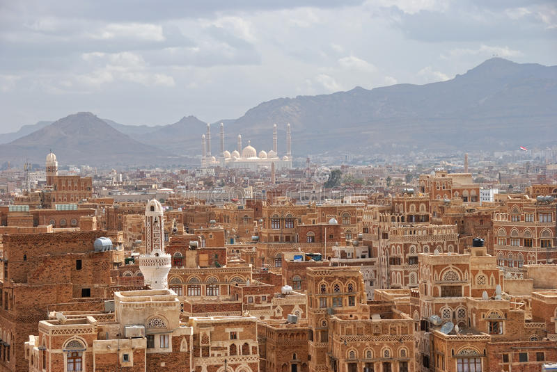 Sanaa.The old city royalty free stock image
