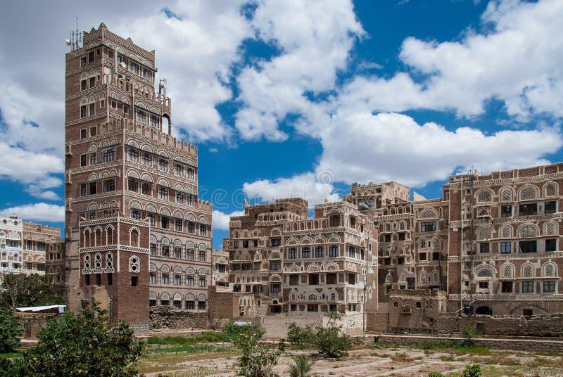 Sanaa, Yemen stockfotos