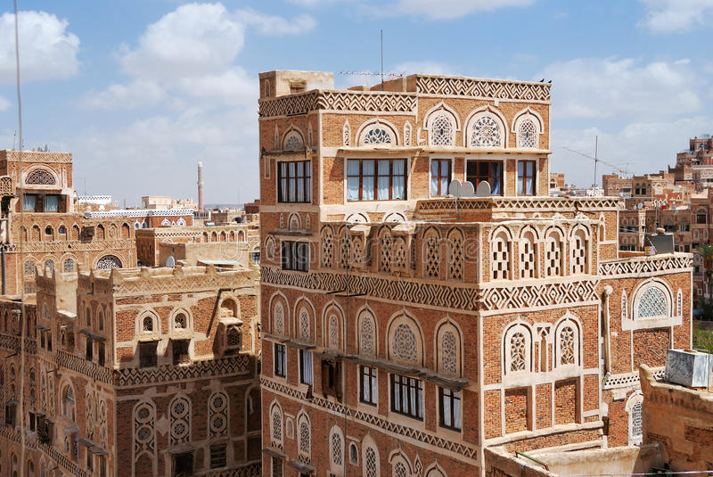 Sanaa, Yemen stockbilder