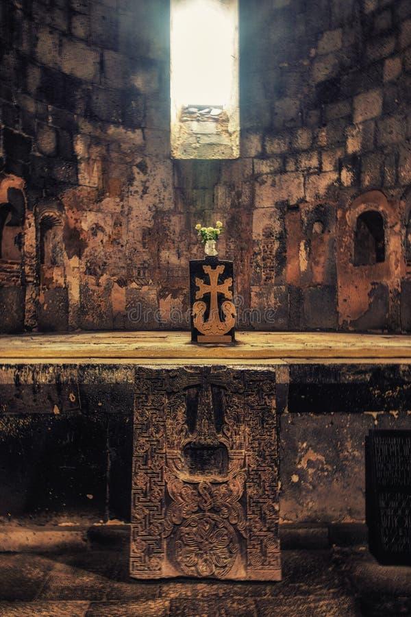 Sanahin kloster, UNESCOvärldsarv, Lori Province, Ar royaltyfria foton