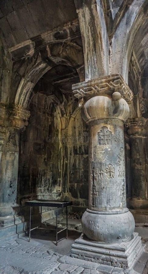 Sanahin klosterpelare arkivbilder