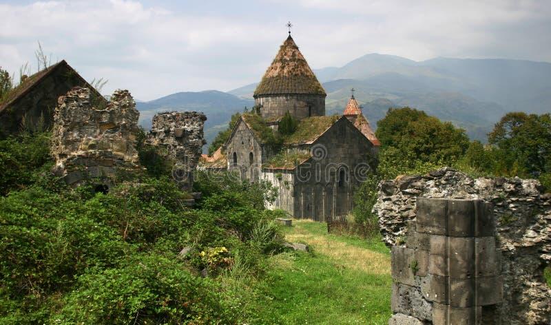 Sanahin monastery in Armenia stock photo