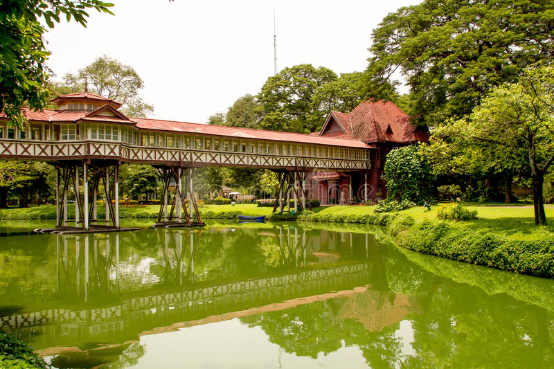 Sanam Chandra Palace Thailand. Walkway Sanam Chandra Palace ancient in Thailand royalty free stock image