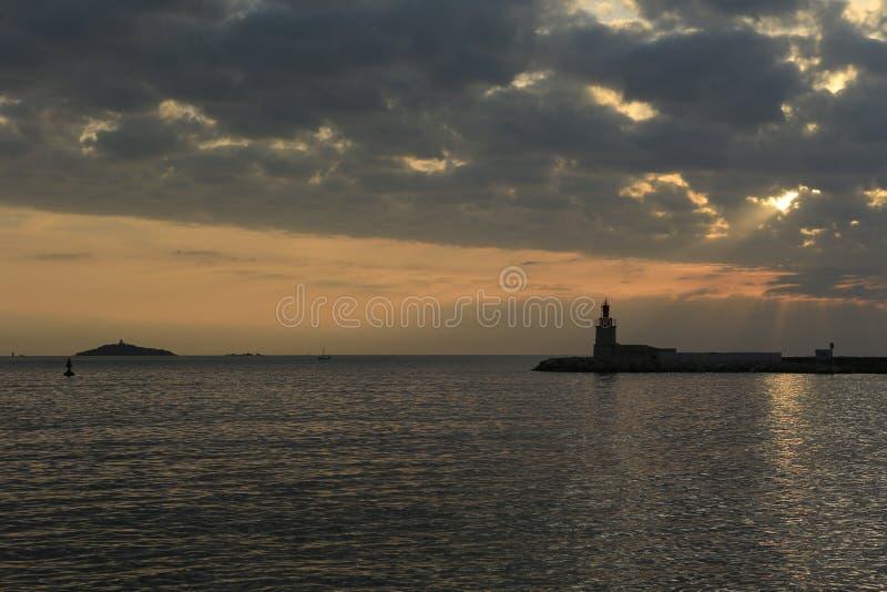 Sanary sur梅尔港口  图库摄影