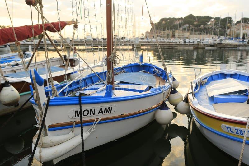 Sanary sur梅尔港口  库存图片