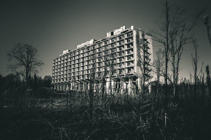 Sanatorio abandonado imagen de archivo