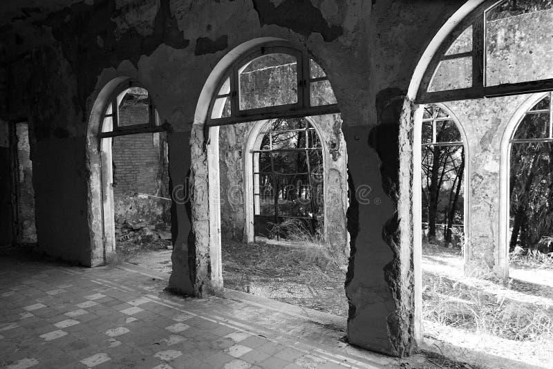 Sanatorio abbandonato fotografie stock