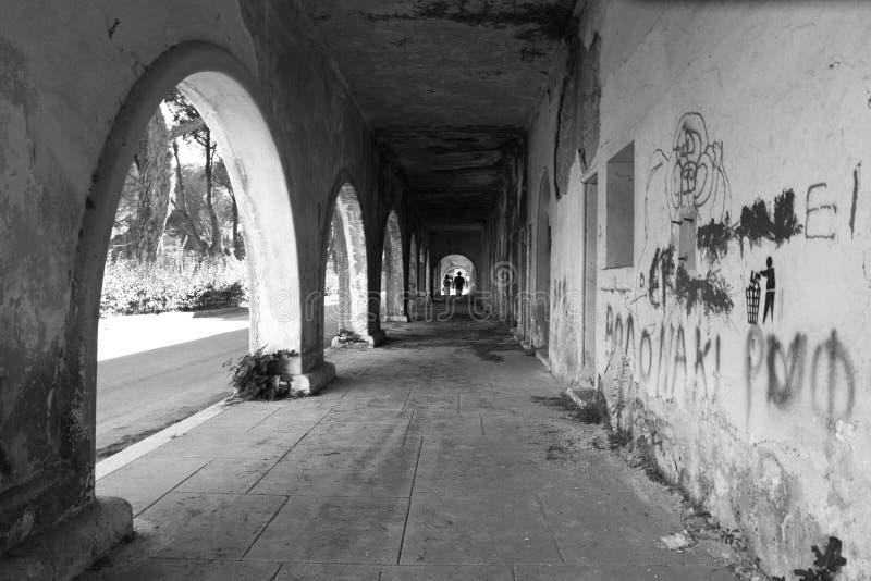 Sanatorio abbandonato immagini stock