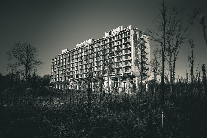 Sanatorium abandonné image stock