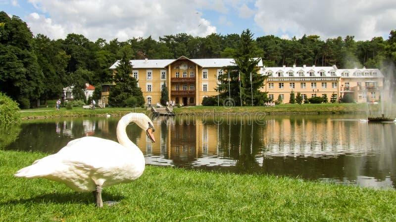 Sanatorium för prins Joseph i Naleczow i Polen royaltyfria bilder