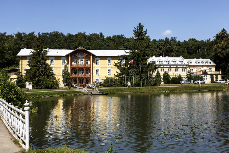 Sanatoriumnr. 1 i Naleczow, Polen royaltyfri fotografi
