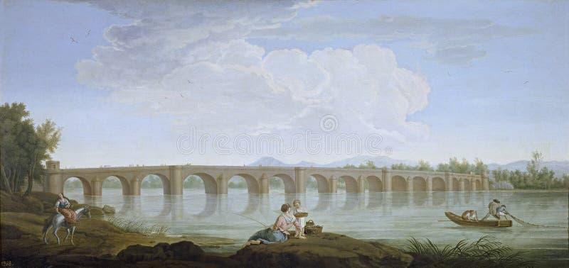 Sanchez Mariano Ramon - Puente de Badajoz, 1787-90 royaltyfri bild