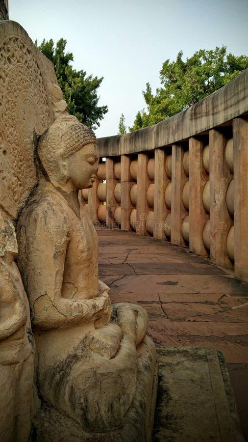 Sanchi stupa 免版税库存照片