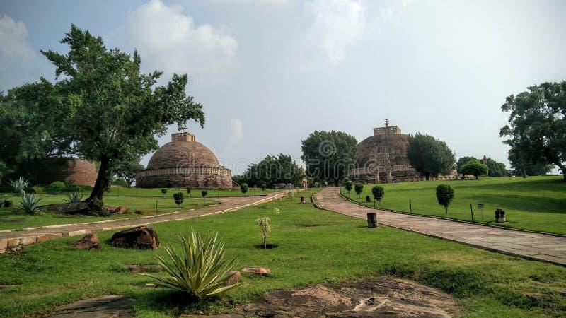 Sanchi stupa 库存图片