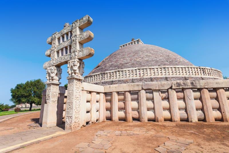 Sanchi Stupa, Indien royaltyfria bilder