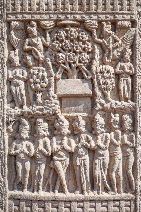 Sanchi Stupa, Indien arkivbild