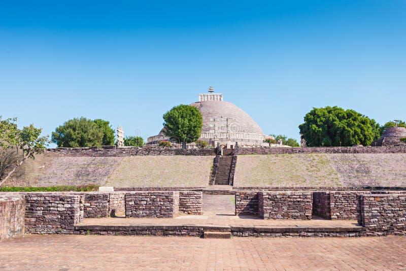 Sanchi Stupa, Indien royaltyfri foto