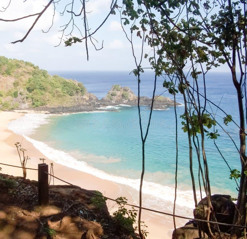 Sancho海湾-费尔南多・迪诺罗尼亚群岛/巴西 免版税库存照片