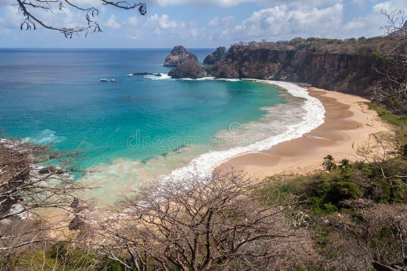 Sancho Beach Fernando de Noronha Island στοκ εικόνα